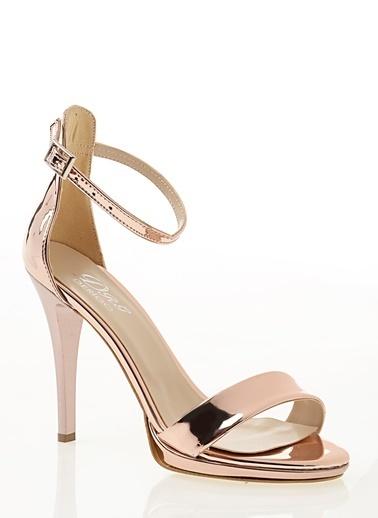 Derigo İnce Topuklu Sandalet Bronz